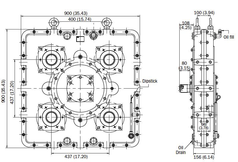 AM480 Dimensions