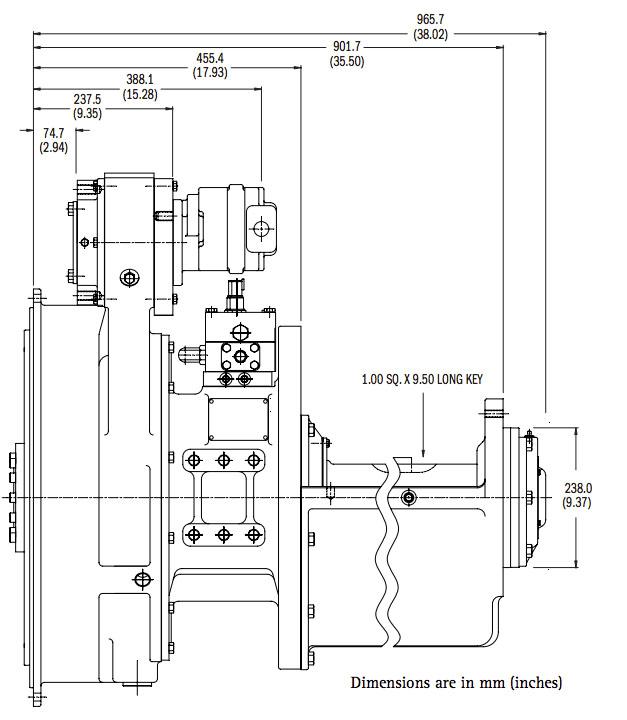 HP610 Dimensions