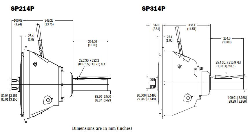 SP214-314P Dimensions