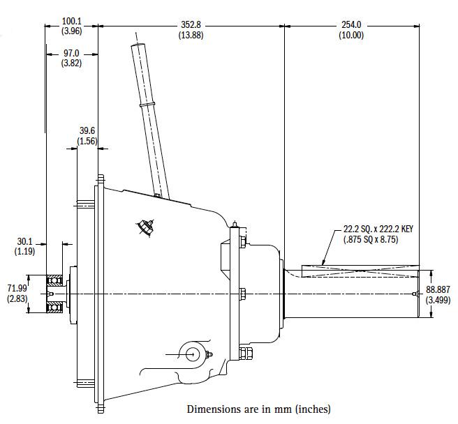 SP311P Dimensions