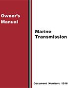 Marine Transmission Owner's Manual