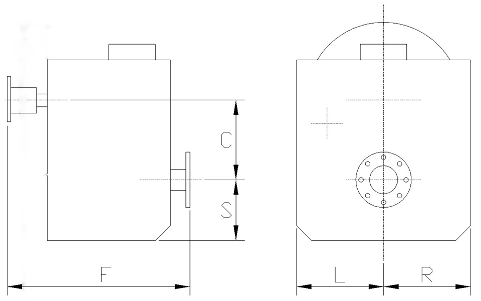 dimensions for MGE-5204SC Freestanding